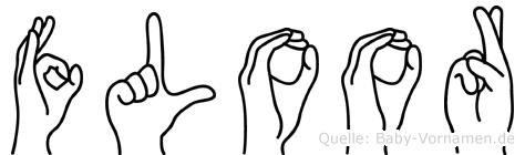 Floor im Fingeralphabet der Deutschen Gebärdensprache
