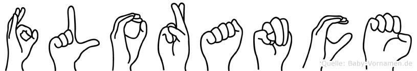Florance in Fingersprache für Gehörlose