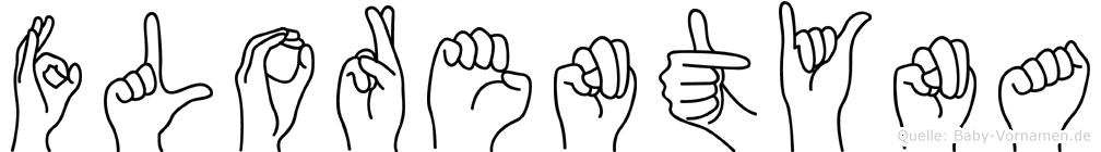 Florentyna im Fingeralphabet der Deutschen Gebärdensprache