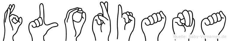 Floriana im Fingeralphabet der Deutschen Gebärdensprache