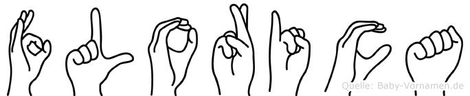 Florica im Fingeralphabet der Deutschen Gebärdensprache