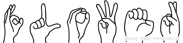 Flower im Fingeralphabet der Deutschen Gebärdensprache