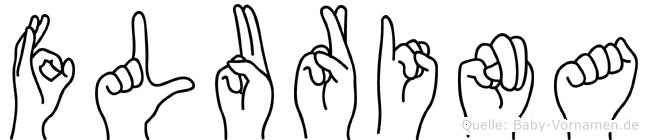 Flurina im Fingeralphabet der Deutschen Gebärdensprache