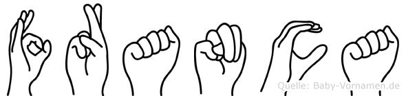 Franca in Fingersprache für Gehörlose