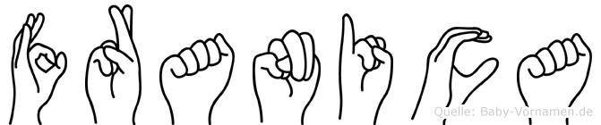 Franica im Fingeralphabet der Deutschen Gebärdensprache