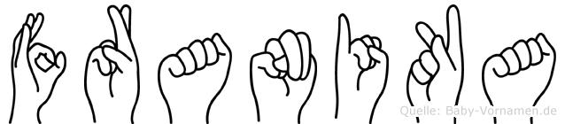 Franika im Fingeralphabet der Deutschen Gebärdensprache