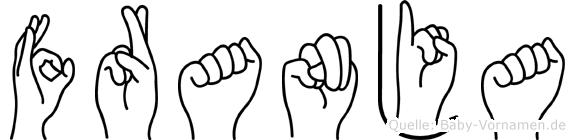 Franja im Fingeralphabet der Deutschen Gebärdensprache