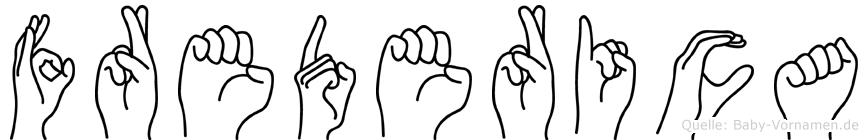 Frederica im Fingeralphabet der Deutschen Gebärdensprache