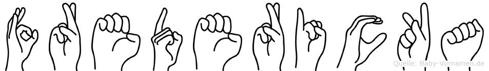 Fredericka in Fingersprache für Gehörlose