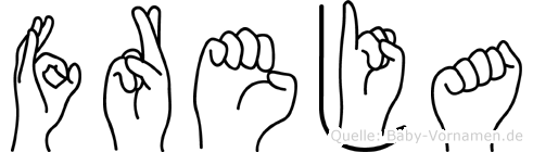 Freja in Fingersprache für Gehörlose