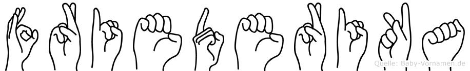 Friederika im Fingeralphabet der Deutschen Gebärdensprache