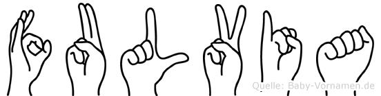 Fulvia im Fingeralphabet der Deutschen Gebärdensprache
