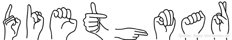 Diethmar in Fingersprache für Gehörlose