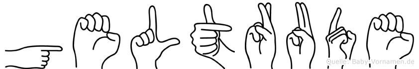 Geltrude in Fingersprache für Gehörlose