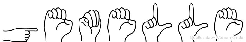 Gemelle in Fingersprache für Gehörlose