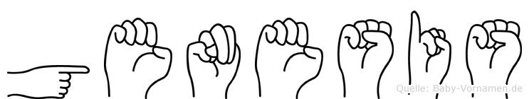 Genesis im Fingeralphabet der Deutschen Gebärdensprache