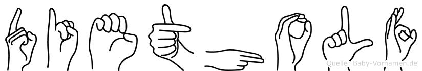 Dietholf in Fingersprache für Gehörlose