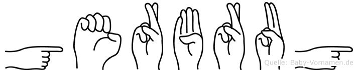 Gerbrug im Fingeralphabet der Deutschen Gebärdensprache