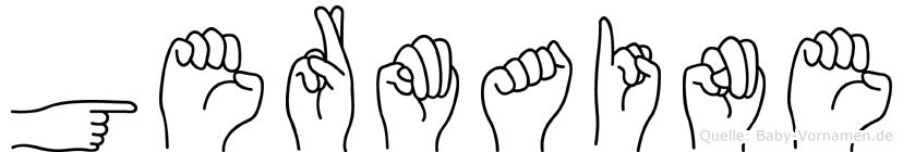 Germaine in Fingersprache für Gehörlose