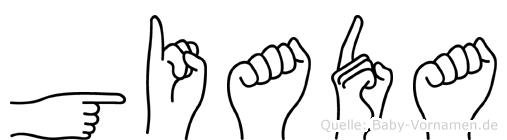Giada in Fingersprache für Gehörlose
