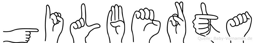 Gilberta im Fingeralphabet der Deutschen Gebärdensprache