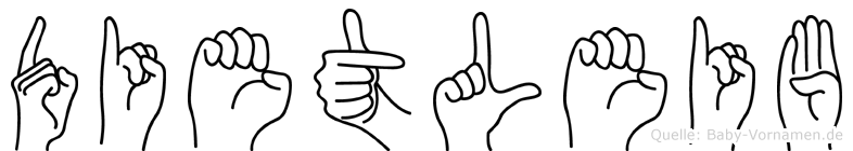 Dietleib im Fingeralphabet der Deutschen Gebärdensprache