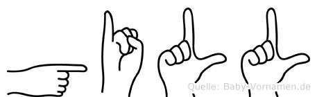 Gill im Fingeralphabet der Deutschen Gebärdensprache