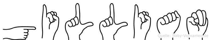 Gillian im Fingeralphabet der Deutschen Gebärdensprache