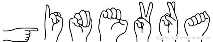 Ginevra im Fingeralphabet der Deutschen Gebärdensprache