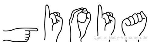 Gioia im Fingeralphabet der Deutschen Gebärdensprache