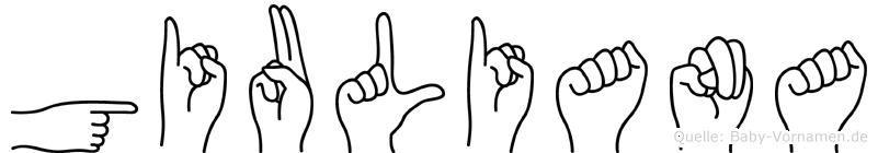 Giuliana in Fingersprache für Gehörlose