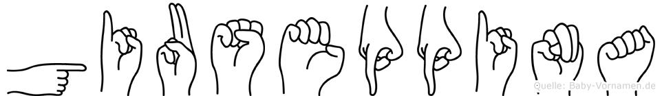 Giuseppina im Fingeralphabet der Deutschen Gebärdensprache
