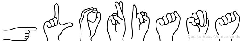 Gloriana in Fingersprache für Gehörlose