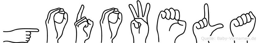 Godowela in Fingersprache für Gehörlose