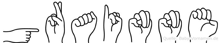 Grainne im Fingeralphabet der Deutschen Gebärdensprache