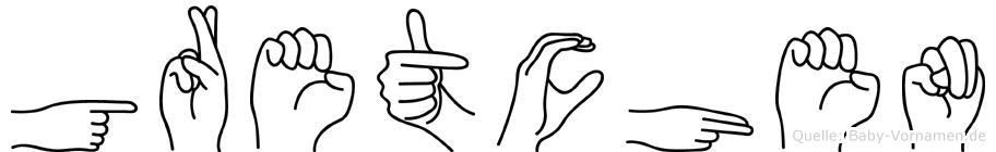 Gretchen in Fingersprache für Gehörlose