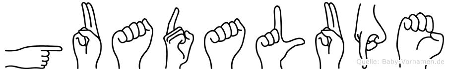 Guadalupe im Fingeralphabet der Deutschen Gebärdensprache