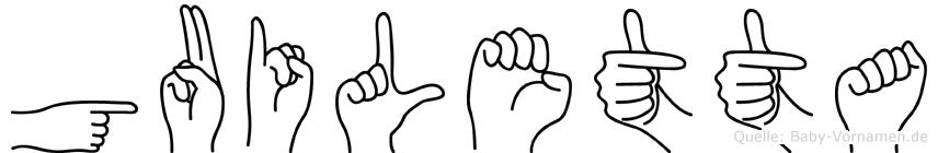 Guiletta in Fingersprache für Gehörlose