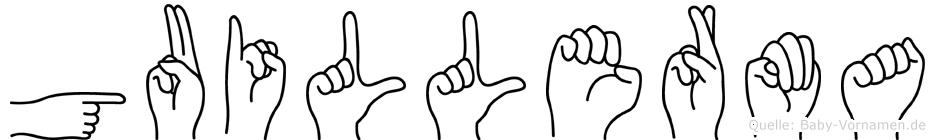 Guillerma im Fingeralphabet der Deutschen Gebärdensprache