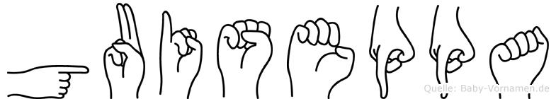 Guiseppa in Fingersprache für Gehörlose