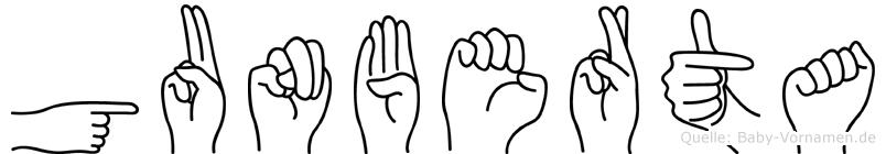 Gunberta in Fingersprache für Gehörlose