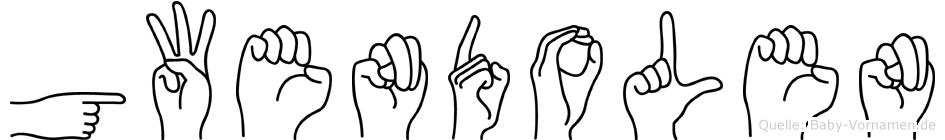 Gwendolen im Fingeralphabet der Deutschen Gebärdensprache
