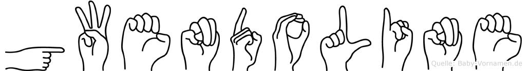 Gwendoline im Fingeralphabet der Deutschen Gebärdensprache