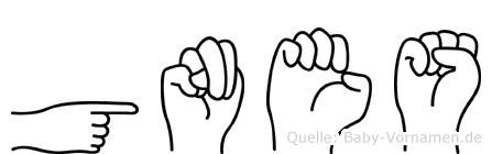Günes in Fingersprache für Gehörlose