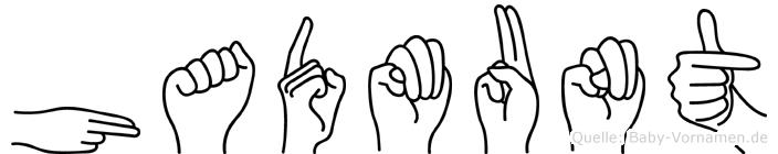 Hadmunt im Fingeralphabet der Deutschen Gebärdensprache