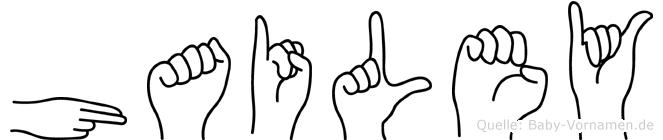 Hailey in Fingersprache für Gehörlose