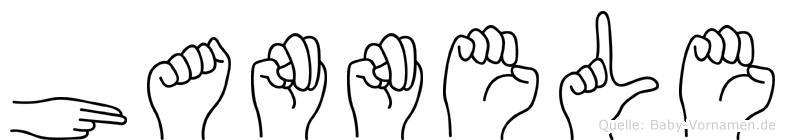 Hannele in Fingersprache für Gehörlose