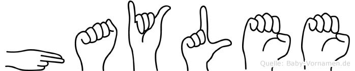 Haylee in Fingersprache für Gehörlose