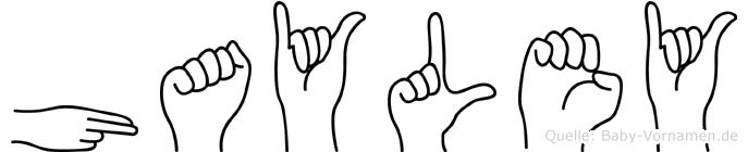 Hayley in Fingersprache für Gehörlose
