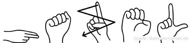Hazel in Fingersprache für Gehörlose